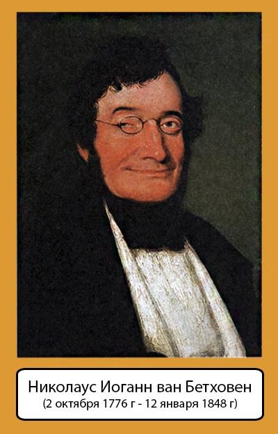 Портрет Николауса Иоганна, брата Бетховена