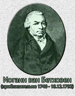 Иоганн ван Бетховен - отец Людвига ван Бетховена