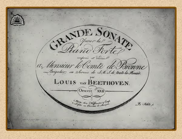 Титульный лист сонаты №11 с посвящением графу Броуну